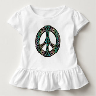 Camiseta De Bebé Paz céltica - signo de la paz céltico del nudo
