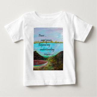 Camiseta De Bebé Paz del dulce de la paz