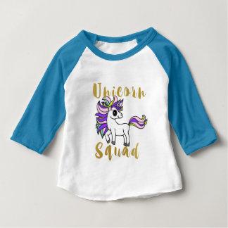 Camiseta De Bebé Pelotón del unicornio, potro colorido