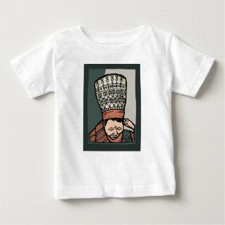 Camiseta De Bebé Pensamiento asiático central de la mujer (en