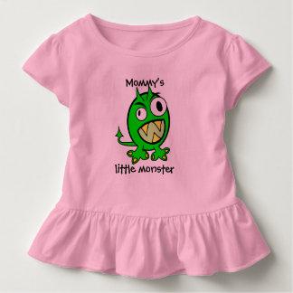 Camiseta De Bebé Pequeña versión del verde del monstruo de la mamá
