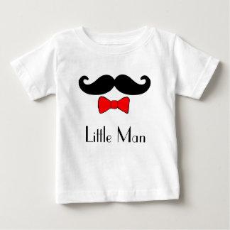 Camiseta De Bebé Pequeño bigote del hombre y Bowtie rojo