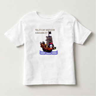 Camiseta De Bebé Pequeño cumpleaños del pirata