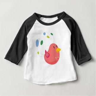Camiseta De Bebé pequeño vuelo lindo del pájaro y canto
