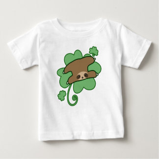 Camiseta De Bebé Pereza afortunada del trébol