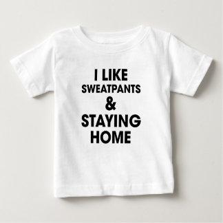 Camiseta De Bebé Permanecer el hogar