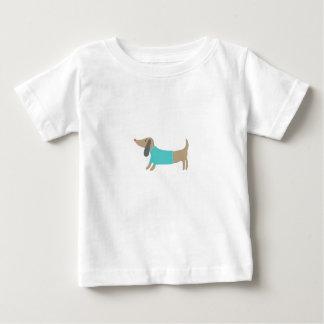 Camiseta De Bebé Perrito dibujado mano linda