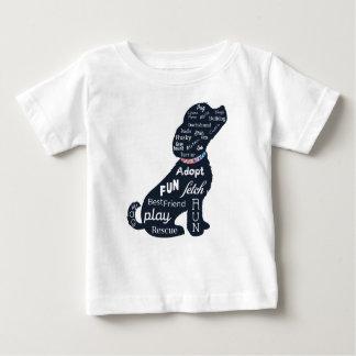 Camiseta De Bebé Perro azul