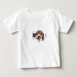 Camiseta De Bebé Perro codicioso del beagle del bebé