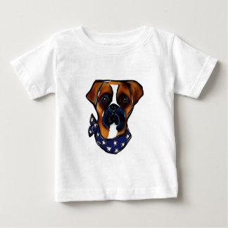 Camiseta De Bebé Perro del boxeador el 4 de julio