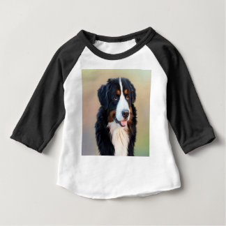 Camiseta De Bebé Perro largo blanco y negro de la capa