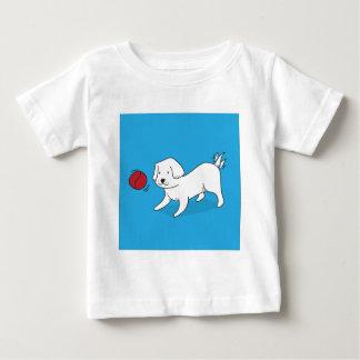 Camiseta De Bebé Perro que juega con una bola