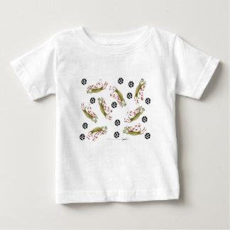 Camiseta De Bebé perros del fútbol de los rojos