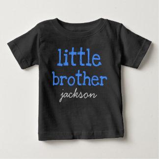 Camiseta De Bebé Personalizado añada un texto azul conocido pequeño