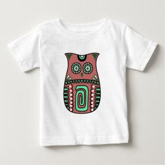 Camiseta De Bebé Personalizado bohemio del pájaro de Boho del búho