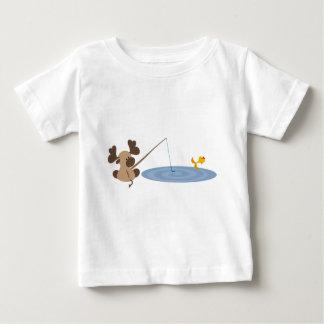 Camiseta De Bebé Pesca de los alces del bebé