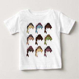 Camiseta De Bebé Pescados