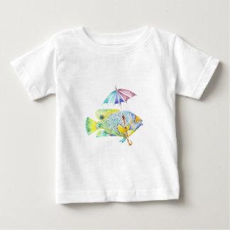 Camiseta De Bebé Pescados del ángel con el paraguas