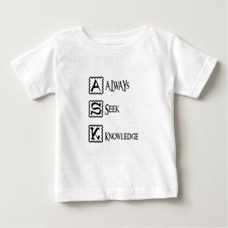 Camiseta De Bebé Pida, busque siempre el conocimiento
