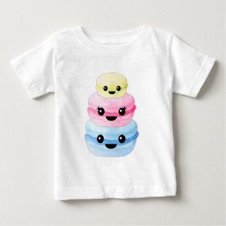 Camiseta De Bebé Pila linda de Kawaii Macaron