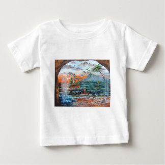 Camiseta De Bebé Pintura de Bell del chapucero de la ensenada del