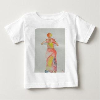 Camiseta De Bebé Pintura de señora Watercolor