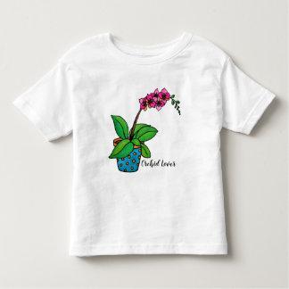 Camiseta De Bebé Planta de la orquídea de la acuarela en pote