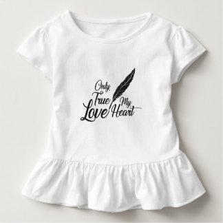 Camiseta De Bebé Pluma verdadera del amor del ilustracion