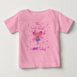 Camiseta De Bebé Poco 1r cumpleaños del ángel
