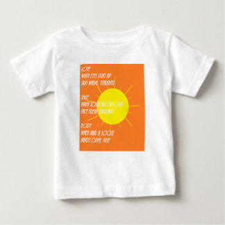 Camiseta De Bebé Poesía de la luz del sol