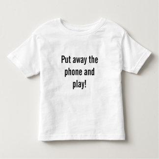 Camiseta De Bebé Ponga el teléfono y el juego en el suelo