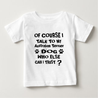 Camiseta De Bebé Por supuesto hablo con mi perro Desi de Terrier