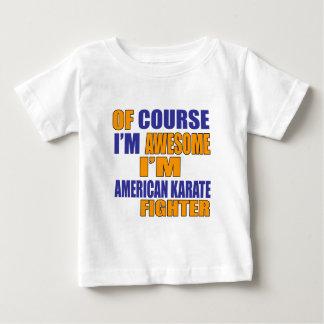 Camiseta De Bebé Por supuesto soy combatiente americano del karate