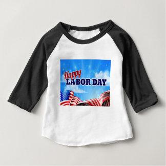 Camiseta De Bebé Poster feliz del Día del Trabajo