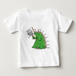Camiseta De Bebé Pozo del gráfico de Greep hola allí