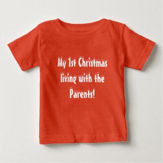 Camiseta De Bebé Primer navidad del bebé