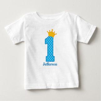 Camiseta De Bebé Primer príncipe Tshirt Personalized del cumpleaños