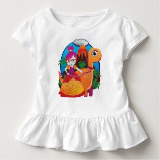 Camiseta De Bebé Princesa Wearing Glasses del dinosaurio