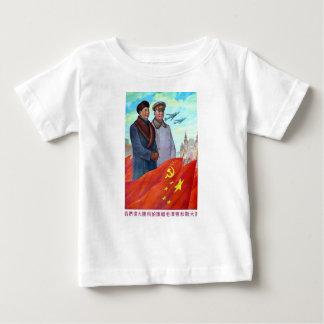 Camiseta De Bebé Propaganda original Mao Zedong y Joseph Stalin