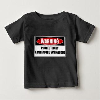 Camiseta De Bebé Protegido por un Schnauzer miniatura