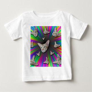 Camiseta De Bebé Psychedelic Tye Die Cat
