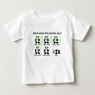 Camiseta De Bebé ¿Qué hace la panda dice?