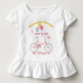 Camiseta De Bebé Quiero montar mis globos de la bici del vintage de