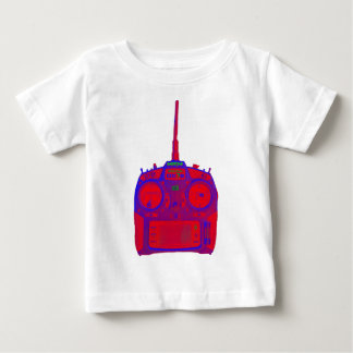 Camiseta De Bebé Radio roja/púrpura del efecto negativo de Spektrum