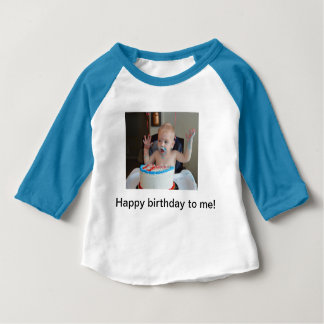 Camiseta De Bebé Raglán del cumpleaños