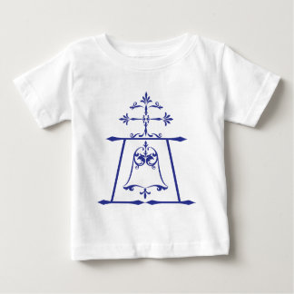 Camiseta De Bebé Raincross - azul - diseño del pasto de Connie