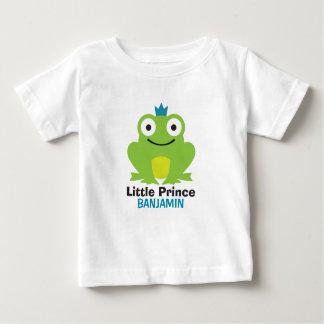 Camiseta De Bebé Rana linda con la corona y el nombre personalizado
