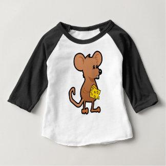 Camiseta De Bebé Ratón con queso
