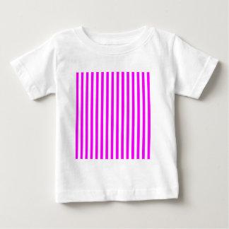Camiseta De Bebé Rayas finas - blanco y fucsia