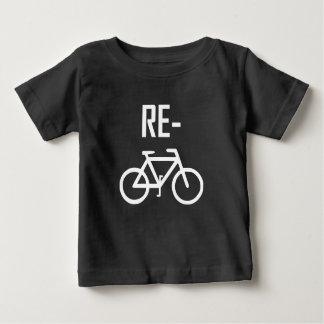 Camiseta De Bebé Recicle la bici de la bicicleta